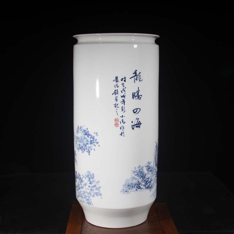 Jingdezhen hand - made dragon porcelain vase sea dragon big vase longteng universal Peng who hand - made works
