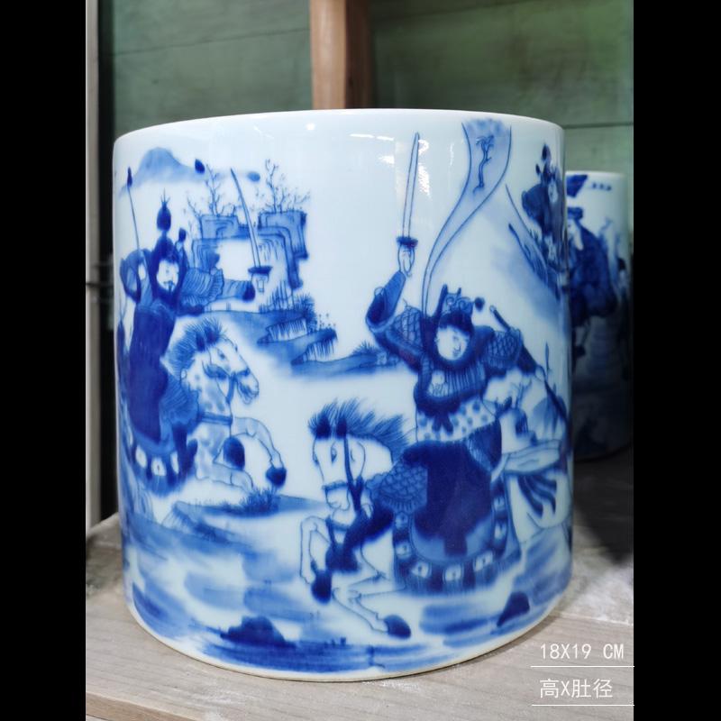 Blue and white porcelain dragon pattern censer temple temple statues furnishing articles present dragon WenXiangLu jingdezhen porcelain art