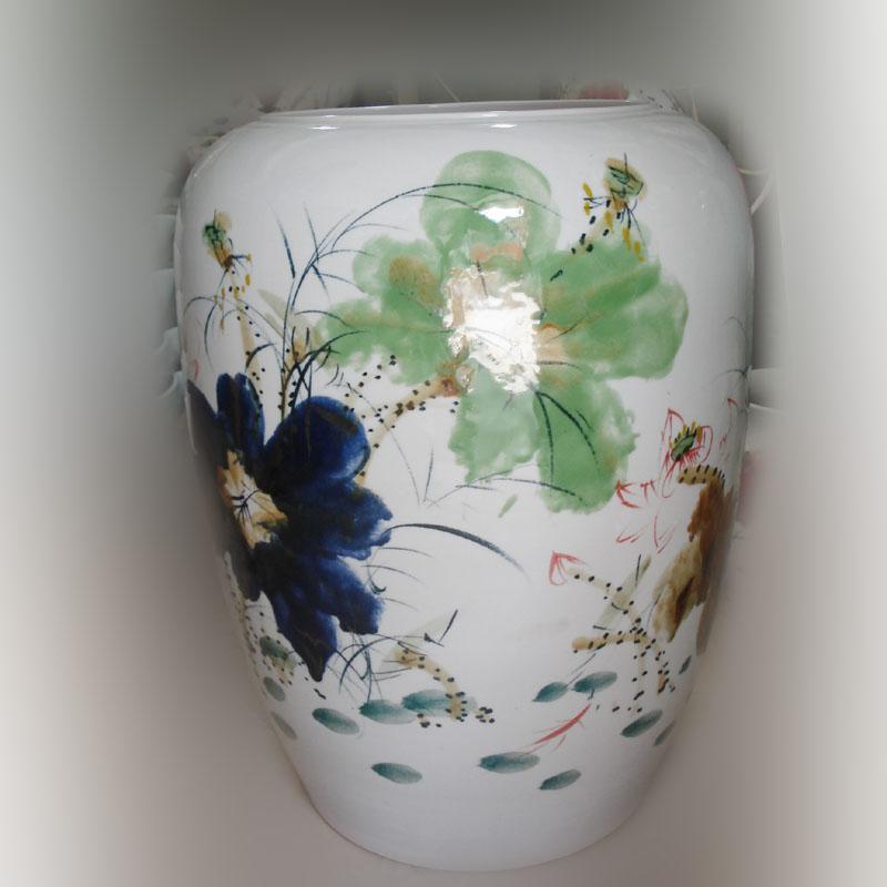 Jingdezhen hand - made idea gourd up porcelain pot Jingdezhen up up with porcelain white gourd vase lotus series