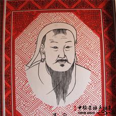 Монгольская картина из кожи Монголия войлок