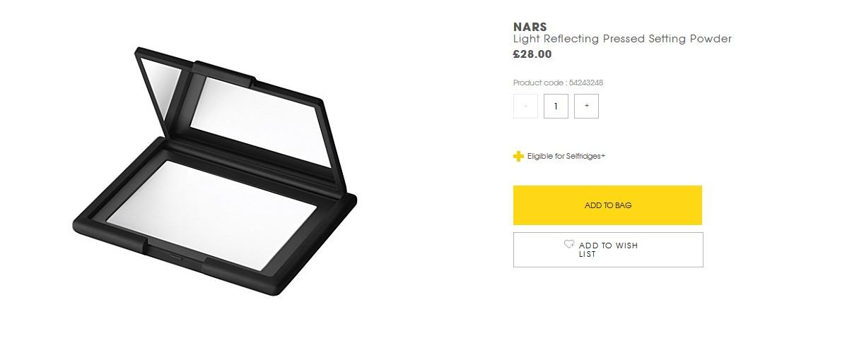 平價彩妝英國購!現貨!NARS 新版裸光蜜粉餅 Light Reflecting 10g
