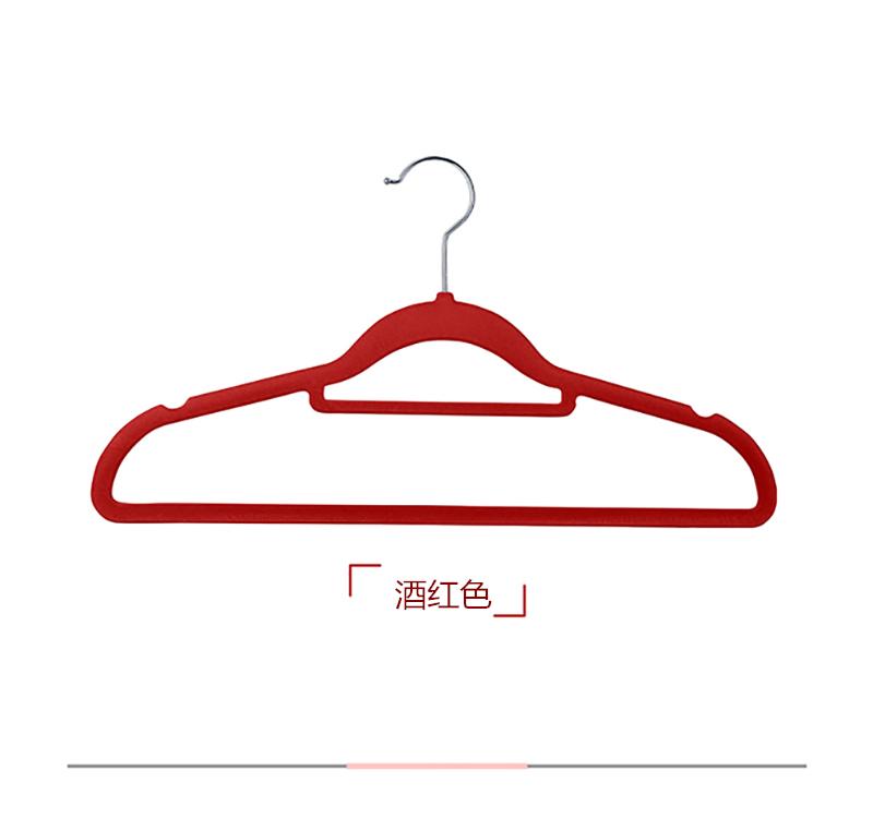 出口日式植绒衣架只无痕防滑衣挂衣撑家用绒面衣柜收纳整理衣架详细照片