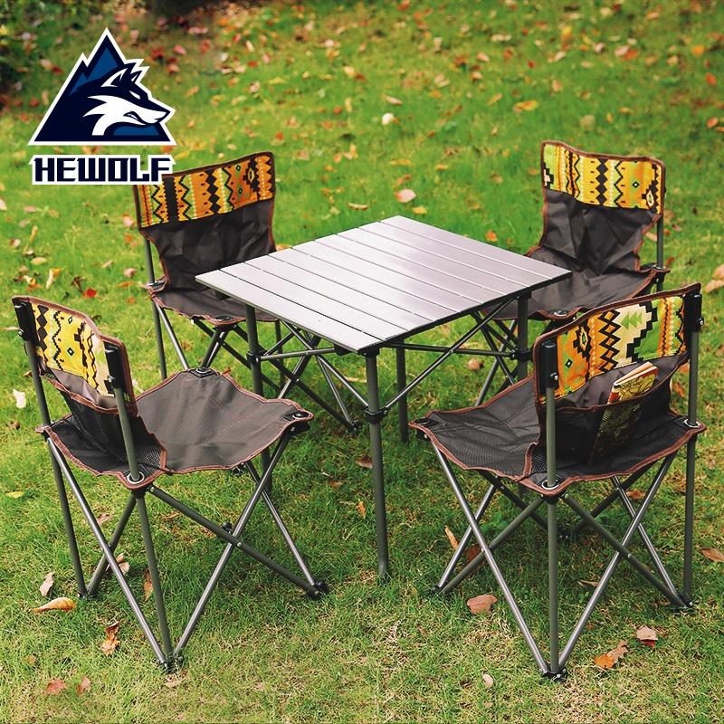 На открытом воздухе складной стол отправить набор наряд портативный пикник столы и стулья пять 5 наборы дикий иностранных на машине тур автомобиль барбекю сиденье