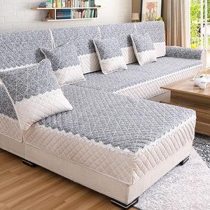 沙发垫冬季简约纯棉沙发套全包萬能套沙发巾罩现代通用型布艺全盖