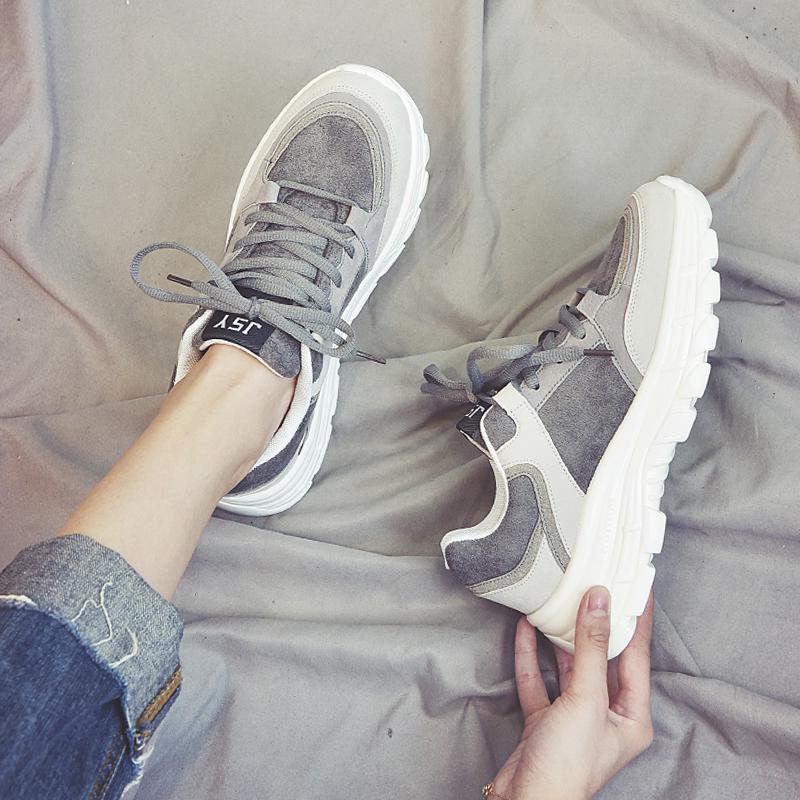 网红女鞋秋季2018新款运动鞋女韩版ulzzang潮原宿学生百搭跑步鞋