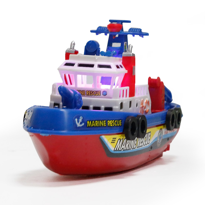 Children\'s Ship Toy Model Water Jet Fire Boat Electric Boat Water ...