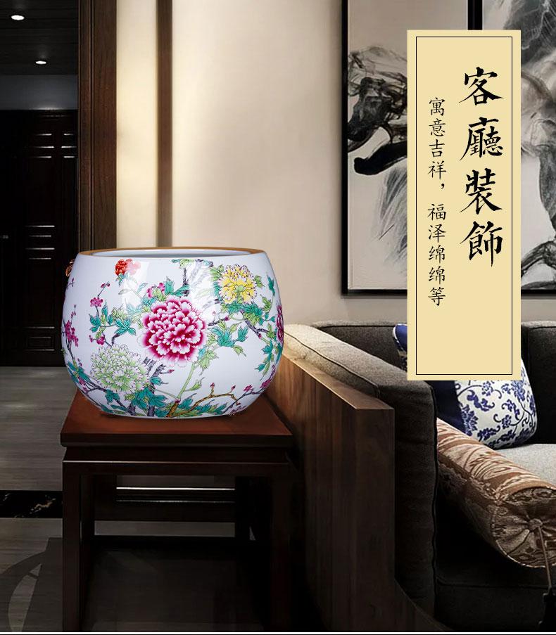 Jingdezhen ceramics aquarium cornucopia Chinese style household desktop furnishing articles TV ark, porch handicraft ornament