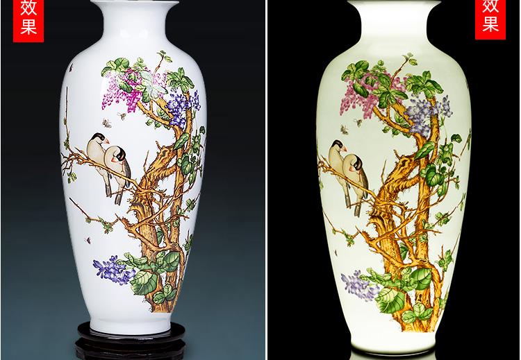 Jingdezhen ceramics powder enamel vase of TV ark, wine bottle of Chinese flower arrangement sitting room household adornment furnishing articles