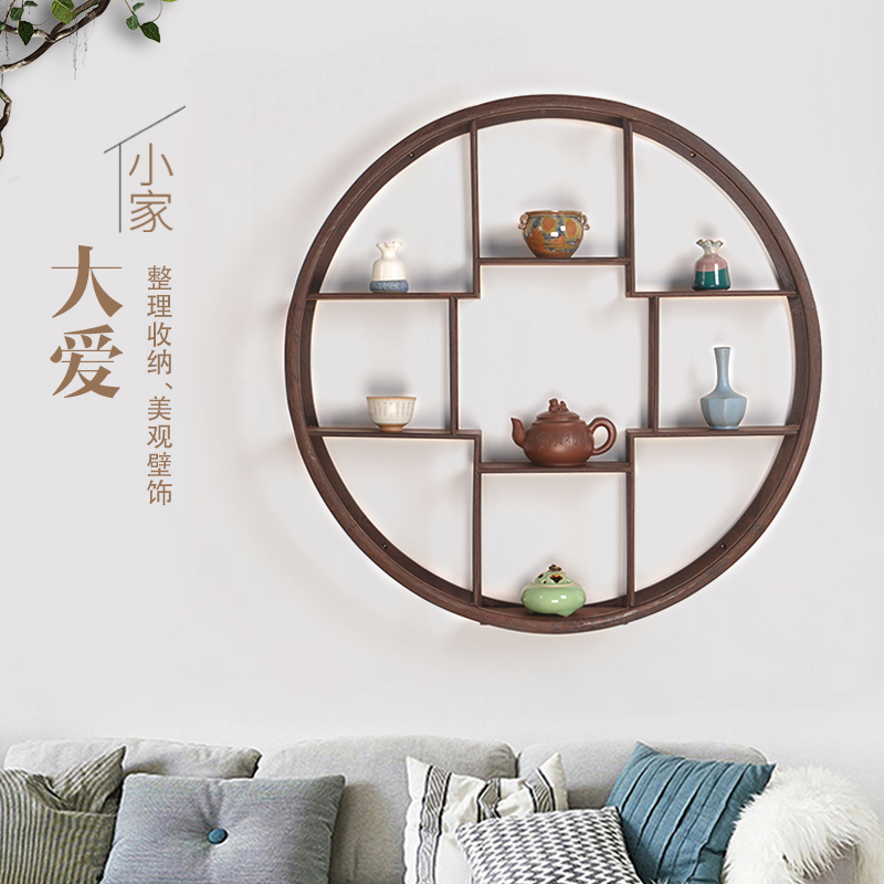 Creative retro Chinese restaurant wall decorations decoration pendant wall  wall shelves living room porch wall decoration