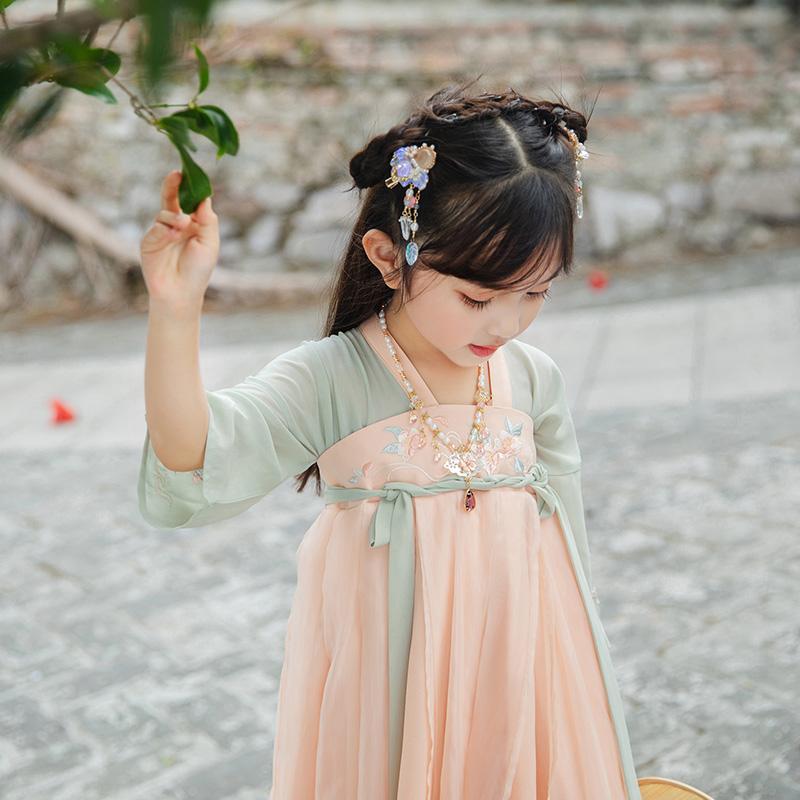 初立原创 女童桃花赋齐胸襦裙
