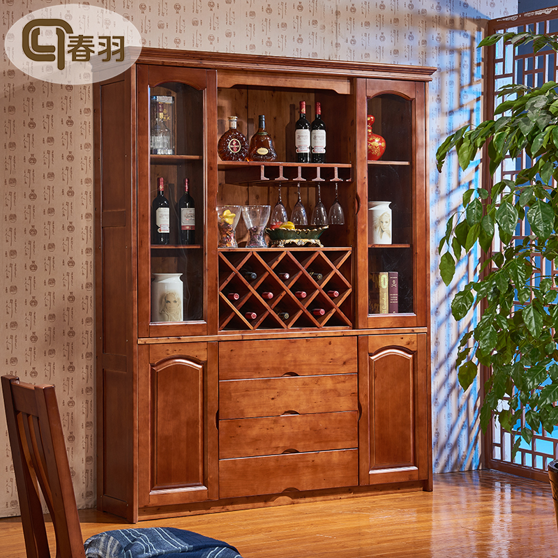 [USD 2531.07] Chinese Wine Cabinet All Cypress Wood Solid