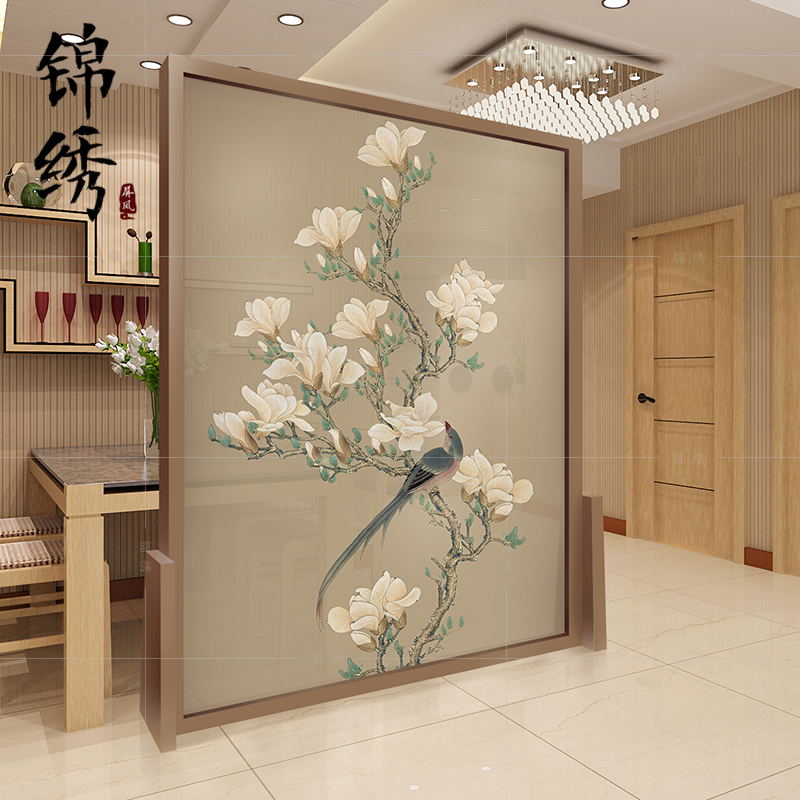 Chinese Solid Wood Ancient Screen Partition Living Room Bedroom