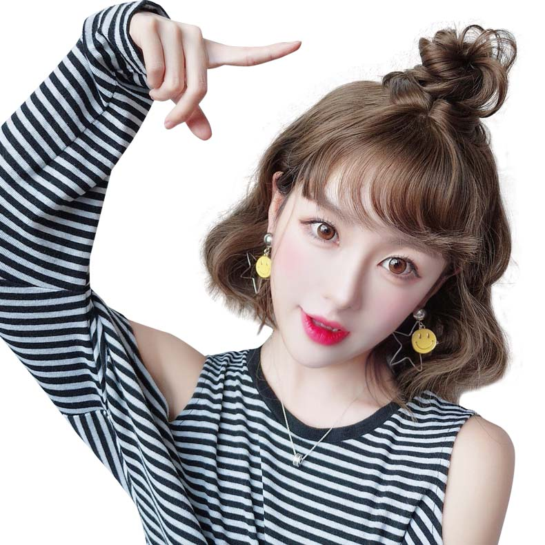 Princess Lee Wig Short Hair Fluffy Shave Lady Short Hair Korea Short Hair Short Curly Hair Bobo Head Volume Bangs Buychinafrom Com Buy China Shop At Wholesale Price By Online English