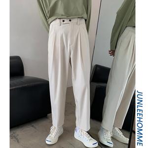 Zijun nam mùa xuân và mùa thu rắn màu quần nam giản dị Hàn Quốc quần dài thẳng thanh niên chín điểm quần thủy triều - Quần mỏng