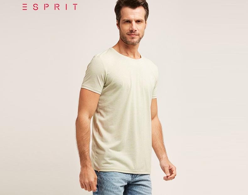 Áo thun ngắn tay màu đơn giản của ESPRIT -056EE2K010