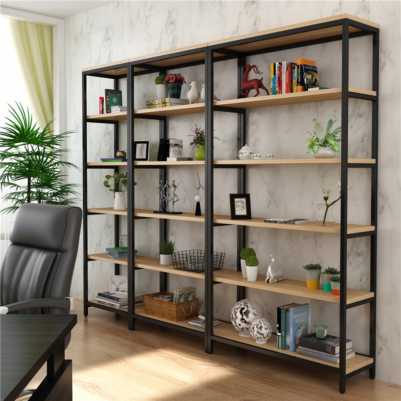 Display Rack Boutique Steel Wooden Bookshelf Container Shelf Cosmetics Cabinet Jewelry Can