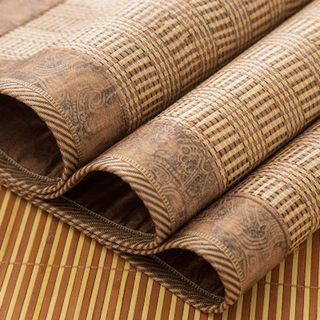 Summer 1.3m wide 1.15 bamboo mat 1.2m1.5 bed 1.35 straight tube 1.4 summer mat 1.8x2m 1.6 dual-use 2