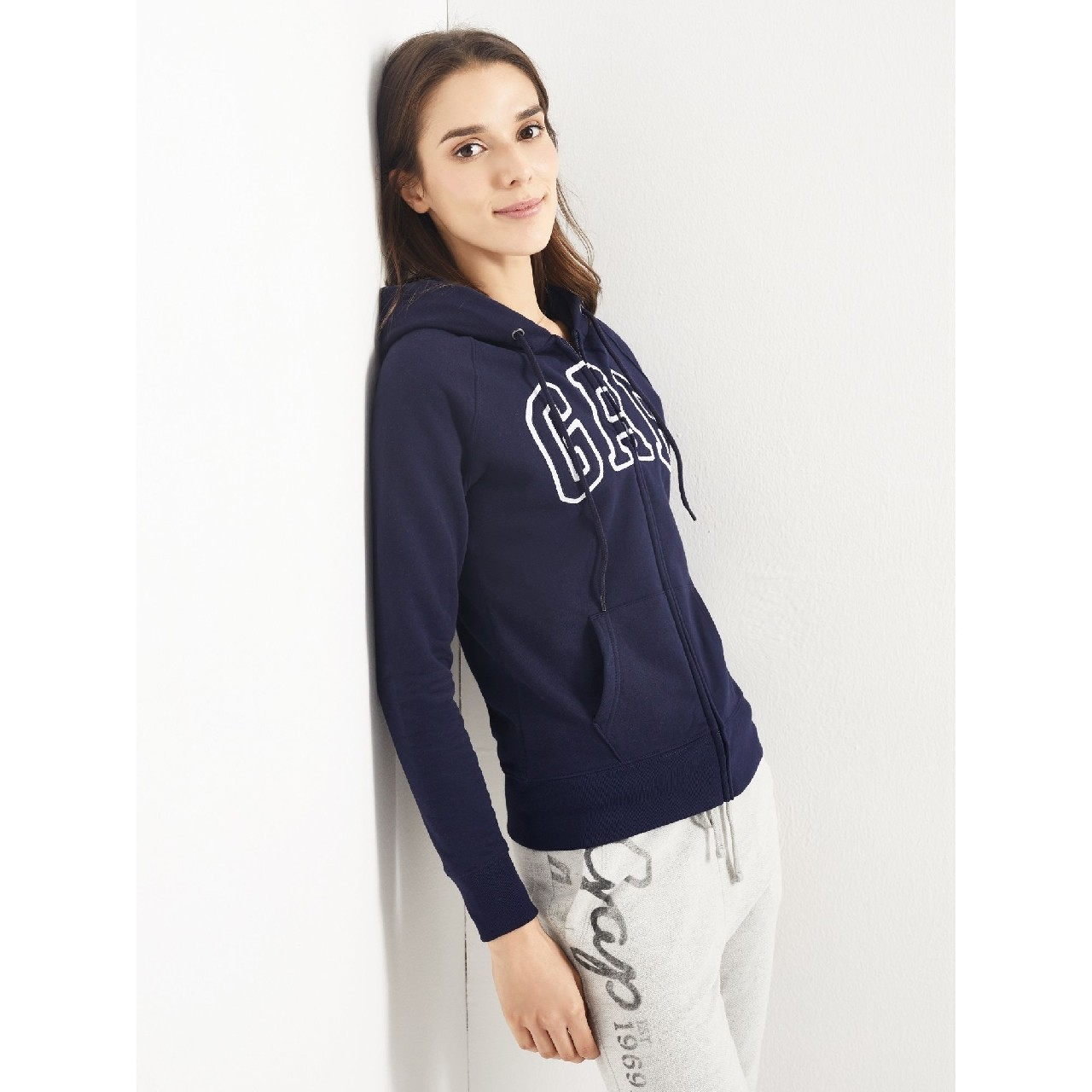 USD 84.43] Gap Women's logo multi-color vitality hooded sweater ...