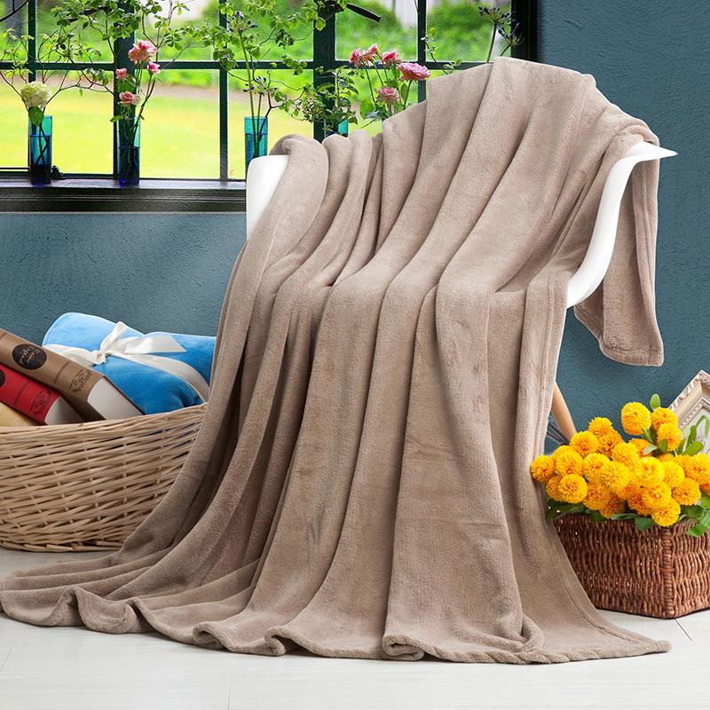 秋冬加厚法兰绒毛毯被子午睡双人单人空调毯办公室盖毯小毯子床单