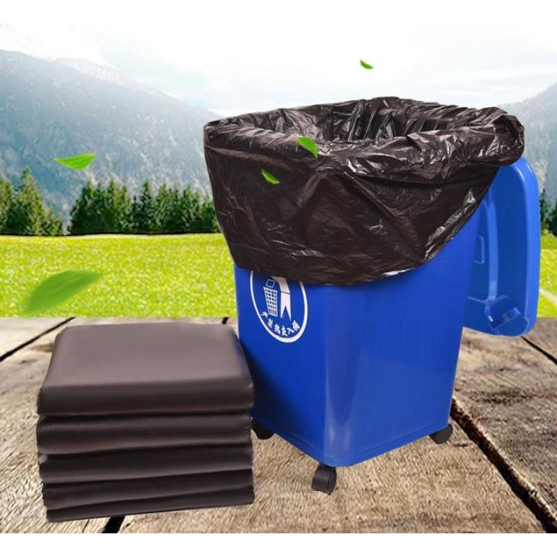 黑色垃圾袋大号加厚环卫物业厨房超大垃圾袋