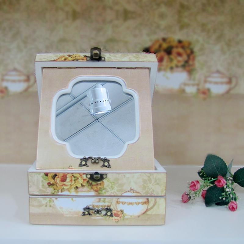 Шкатулка для драгоценностей Континентальный пастырское макияж коробка ювелирных изделий корейской версии туалетном столике для хранения ювелирных изделий деревянная коробка свадьба день рождения роскошный подарок