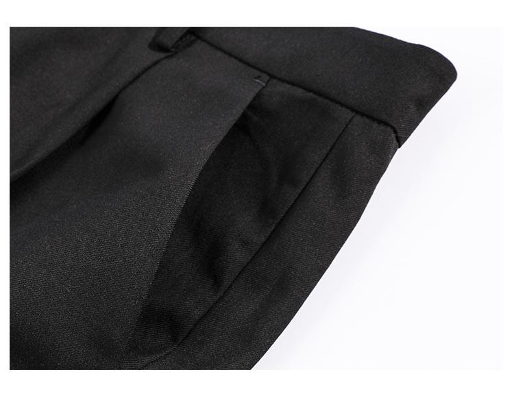 ITSCLIMAX ánh sáng mùa hè và lỏng lẻo chín điểm xếp li phù hợp với quần treo lên quần tây giản dị với vành đai