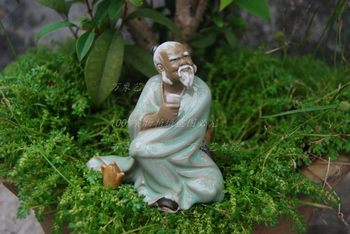 Drinking and drinking ancient characters ceramic ornaments garden gardening rockery bonsai landscaping decorations home crafts