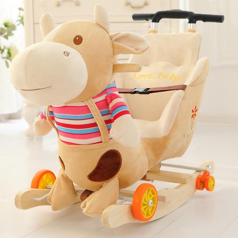 Ребенок троян двойной озноб лошадь ребенок кресло-качалка ребенок игрушка дерево с музыкой тележка встряска автомобиль полный год подарок