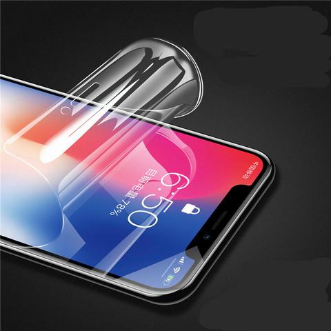 苹果X水凝膜iphone11钢化膜苹果xr抗蓝光xsmax原装11pro全屏覆盖手机7plus游戏磨砂苹果8软全包边纳米防指纹