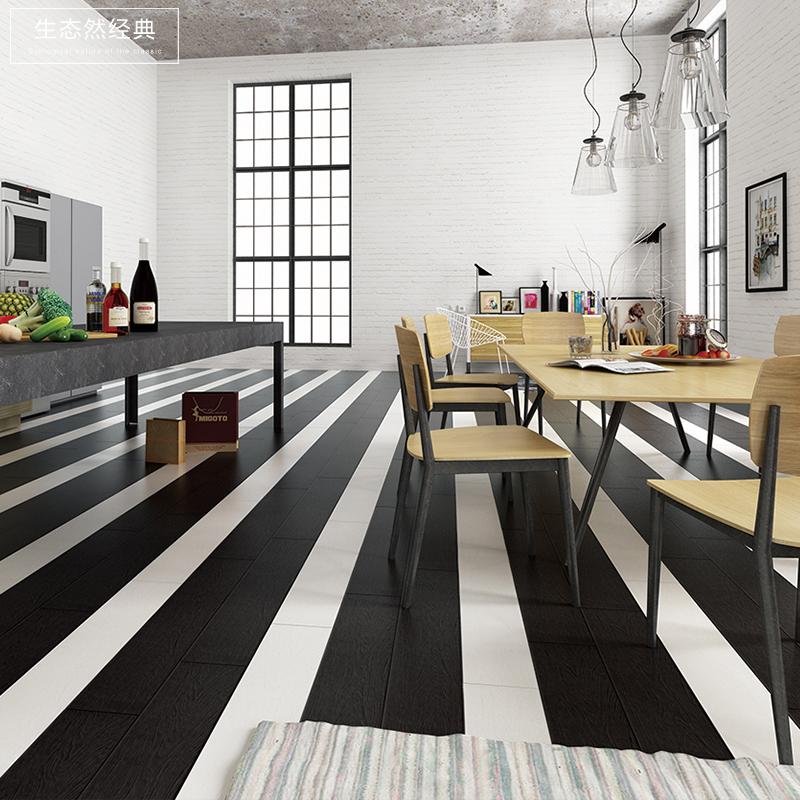 Простой нордический черно-белое дерево античный кирпич гостиная дерево этаж кирпич 150x800 простой гостиная стена балкон кирпич