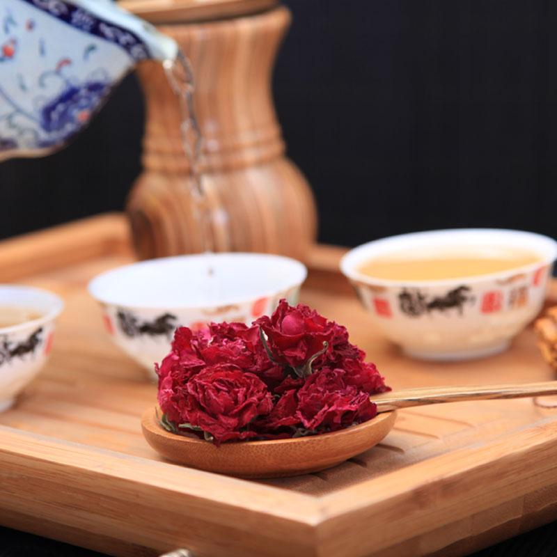 平阴翠河 玫瑰花冠茶 玫瑰茶 一杯一朵约120朵