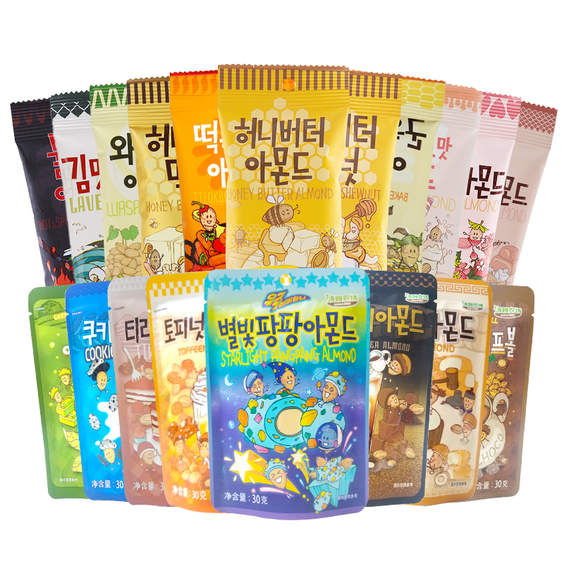 韩国进口汤姆农场蜂蜜黄油扁桃仁小零食