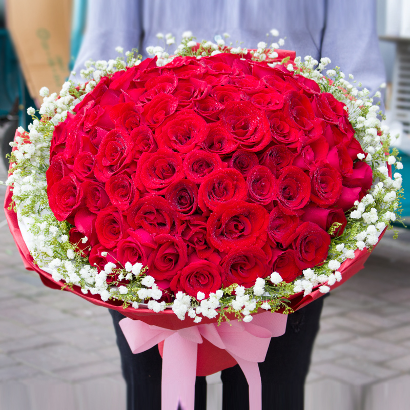 Usd 107 50 Red Rose Bouquet Gift Box Flower Delivery With The City