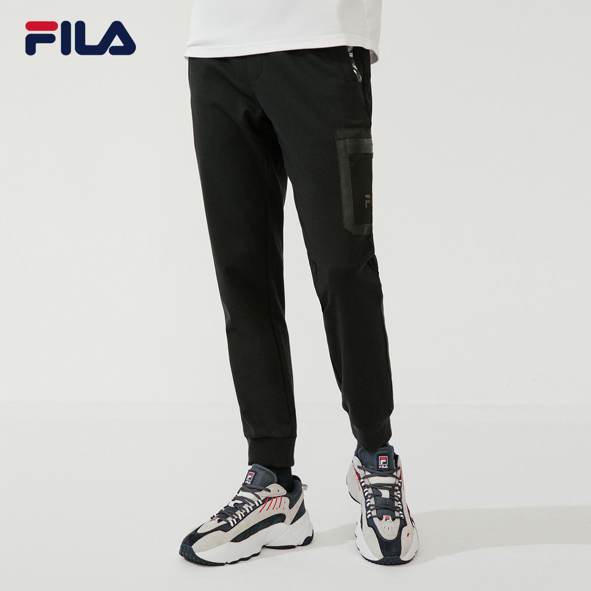 FILA Fila chính thức quần dệt kim nam 2020 mùa xuân mới sáng tạo bên túi quần giản dị kín quần bó sát - Quần thể thao