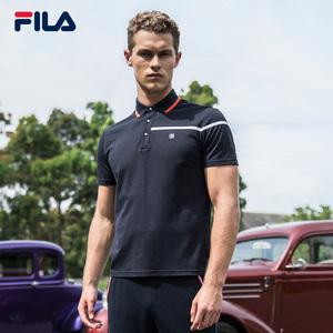 FILA Fila nam ngắn tay áo polo 2018 mùa hè mới kinh doanh bình thường độ ẩm hấp thụ thể thao thoáng khí POLO nam