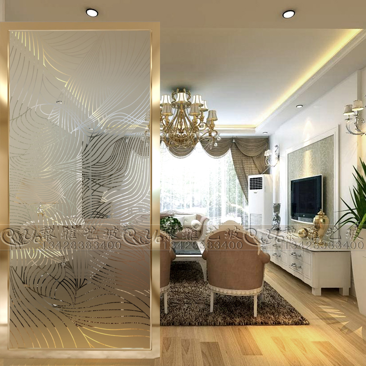glass partition for living room usd 184 92 modern glass door partition craft glass 23886
