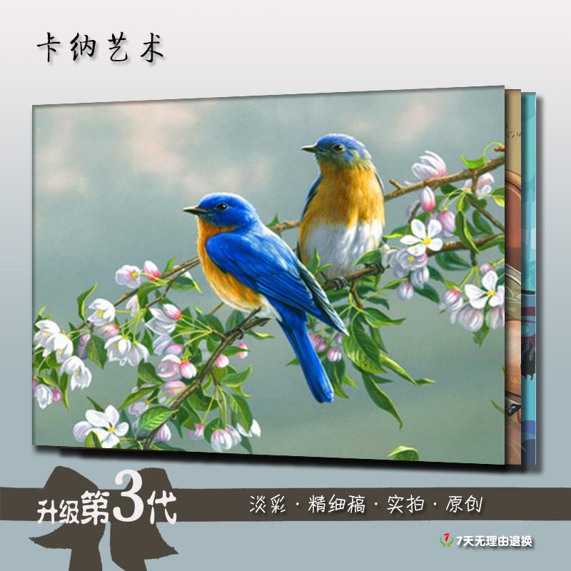 diy数字油画风景花鸟 手绘涂色现代简约客厅 大幅定制装饰画包邮