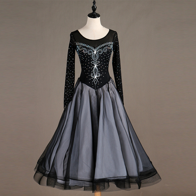 Amazing time! Dresses for modern dance with diamonds, national standard dance dresses, social dresses
