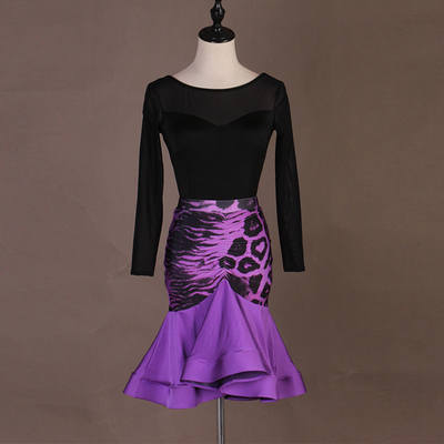 Latin Dance Dresses Modern Dance Skirt  Waltz Ballroom Waltz Group Dance Skirt