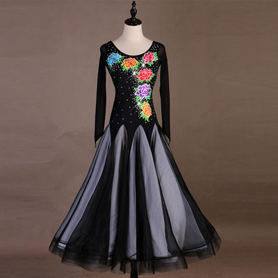 Ballroom Dance Dresses Superior embroidered Millen dress, ballroom Waltz dress