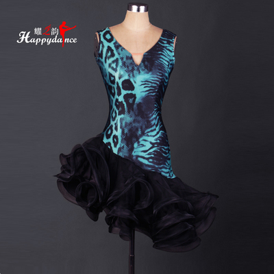 Sleeveless Latin Dance Performance Dress Latin Dance Dresses for Adult Women