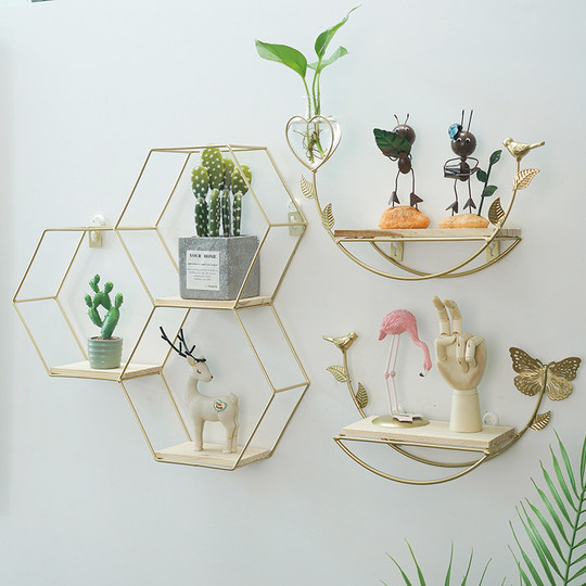ins creative simple nordic style wall hanging decoration living room bedroom room layout dining room decoration rack