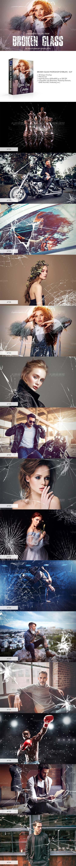 30张高清背景透明的破碎玻璃PNG图片:Broken Glass Photoshop Overlays
