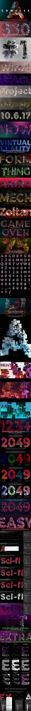 未来派3D字效模板(完整合集版/含高清视频教程):COMPL3X - Futuristic 3D Alphabet Kit