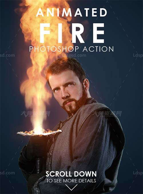 Animated Fire Photoshop Action.jpg