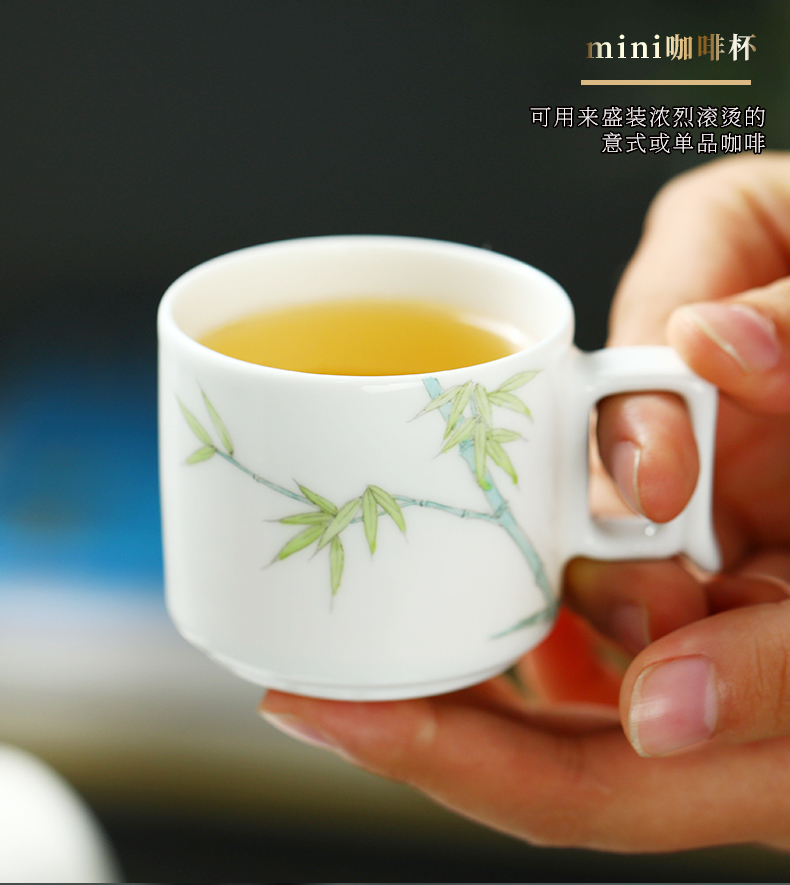 Jingdezhen hand - made ceramic keller of coffee cup 90/150/250 ml small Italian enrichment item coffee cup