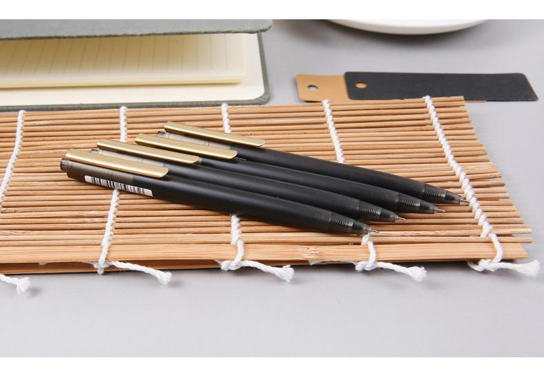 晨光文具中性笔0.5mm水笔办公学生用品黑水晶系列大容量AGPH4502