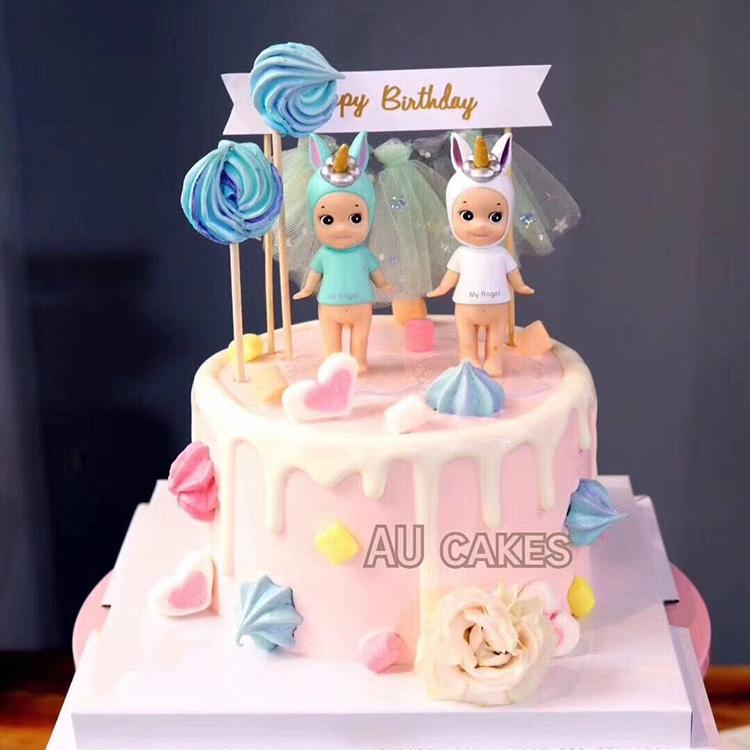 Superb Birthday Cake Dress Up Cupid Elk Head Demons And Angels A Pair Of Birthday Cards Printable Nowaargucafe Filternl