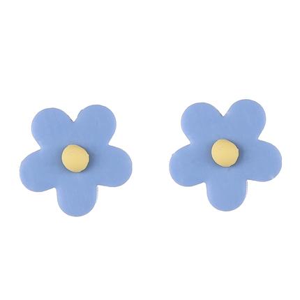 泫雅风同款彩色花瓣花朵耳环韩国气质太阳花耳饰少女心可爱甜美耳