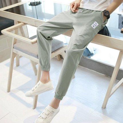 九分裤潮流宽松休闲束脚裤运动大码哈伦裤男